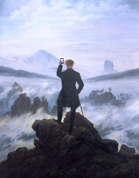 "Image: Kim Dong-Kyu, based on ""The Wanderer in the Fog"" by Caspar David Friedrich, beautifuldecay.com"